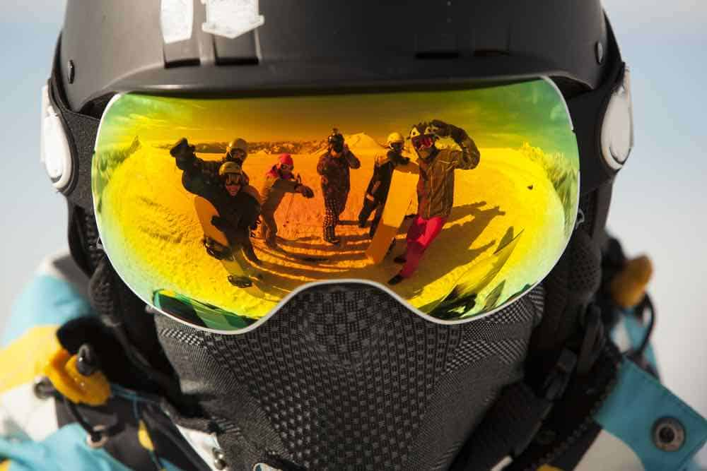 Snowboard Goggles Up Close